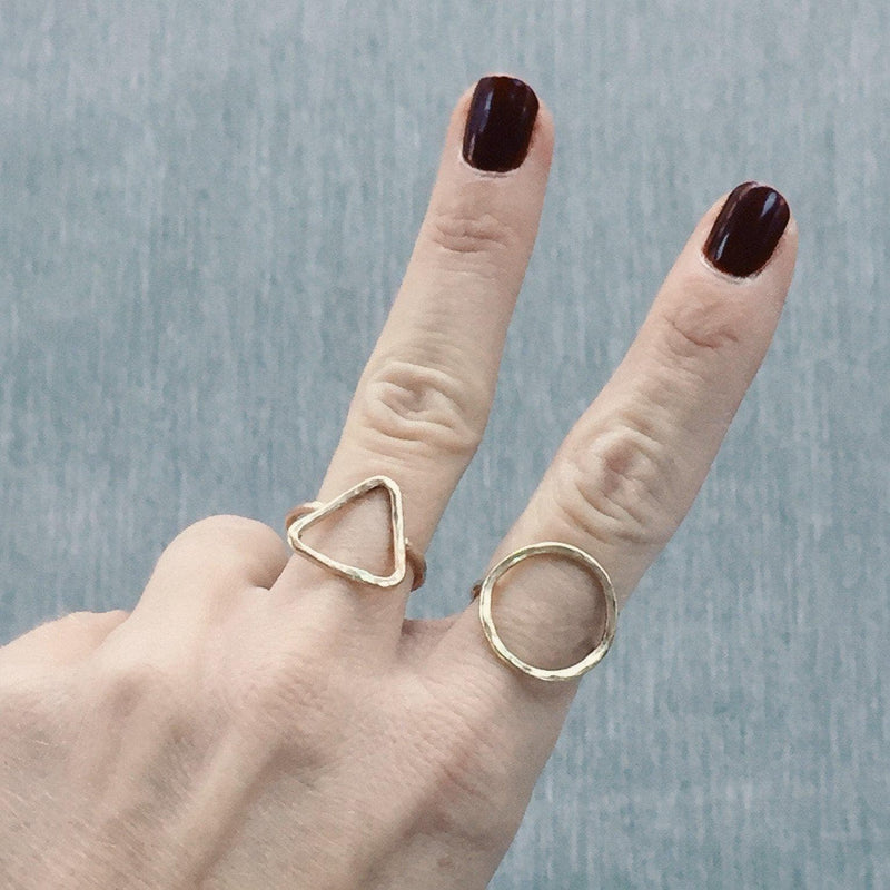 gold geometric rings
