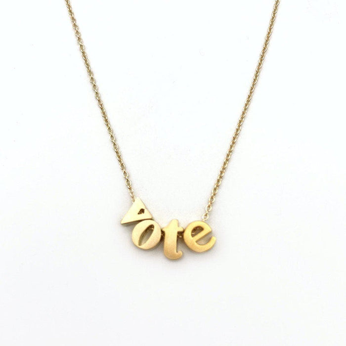 Lowercase Vote Necklace