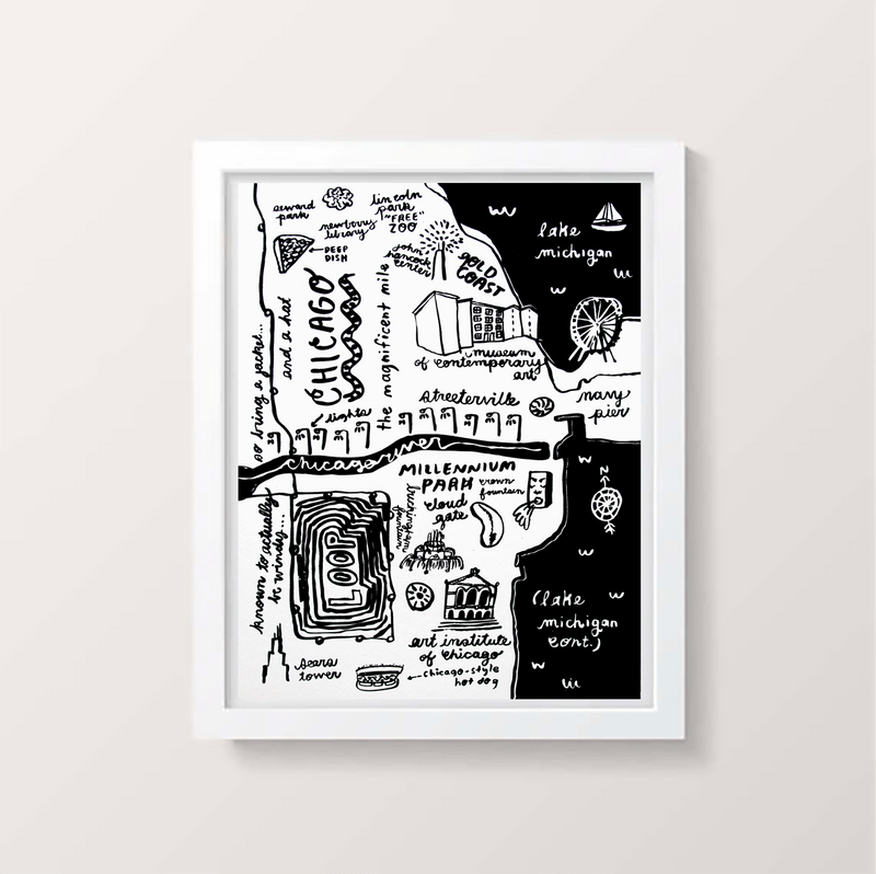 People I've Loved - Chicago Map Print - P9506