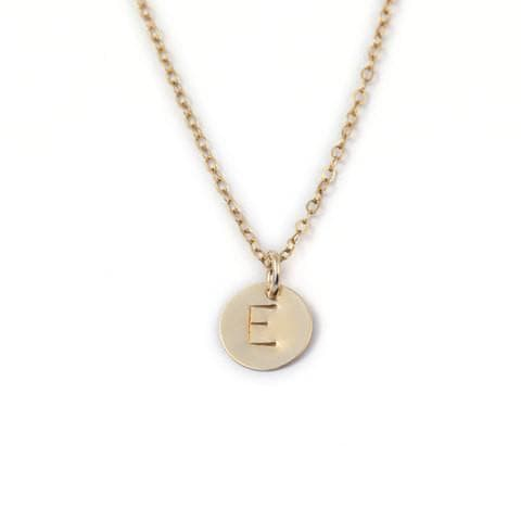 Initial Disc - Charm, Necklace, adorn512, adorn512