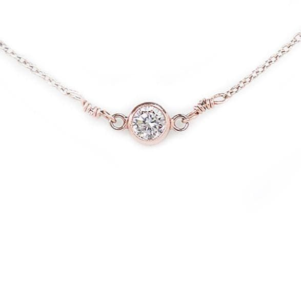 cubic zirconia gold necklace