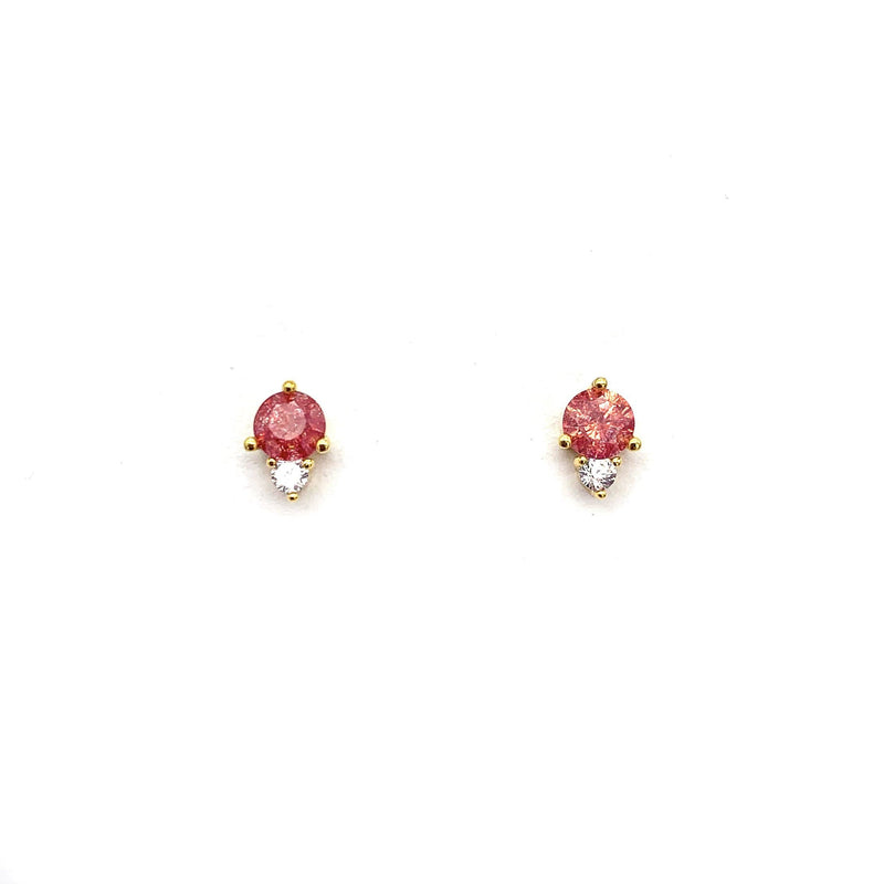 Single Gem CZ Stud, Earrings, adorn512, adorn512