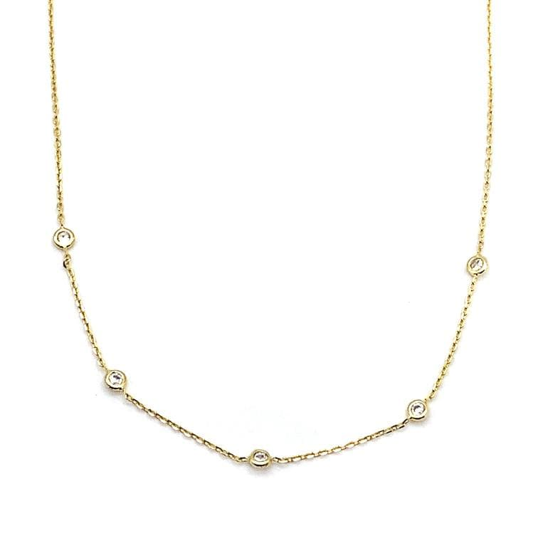 Floating CZ Necklace, Necklace, adorn512, adorn512