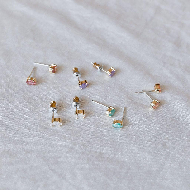 Single Gem Solitaire Studs