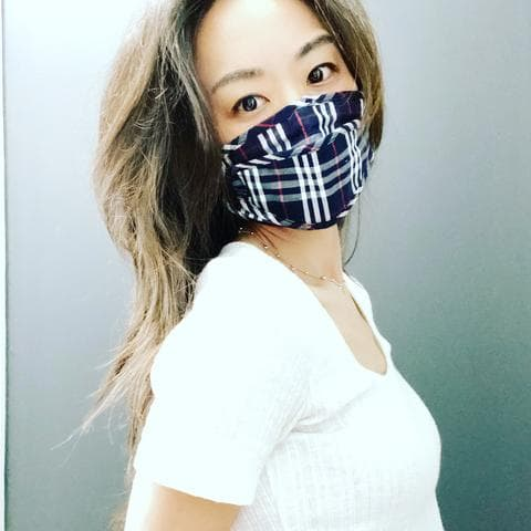 Protective Face Mask | Plaid Navy