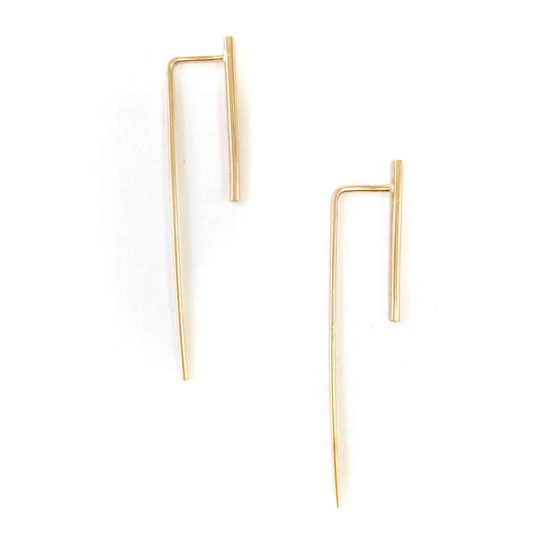 Long Bar Earrings, Earrings, ADORN512, adorn512