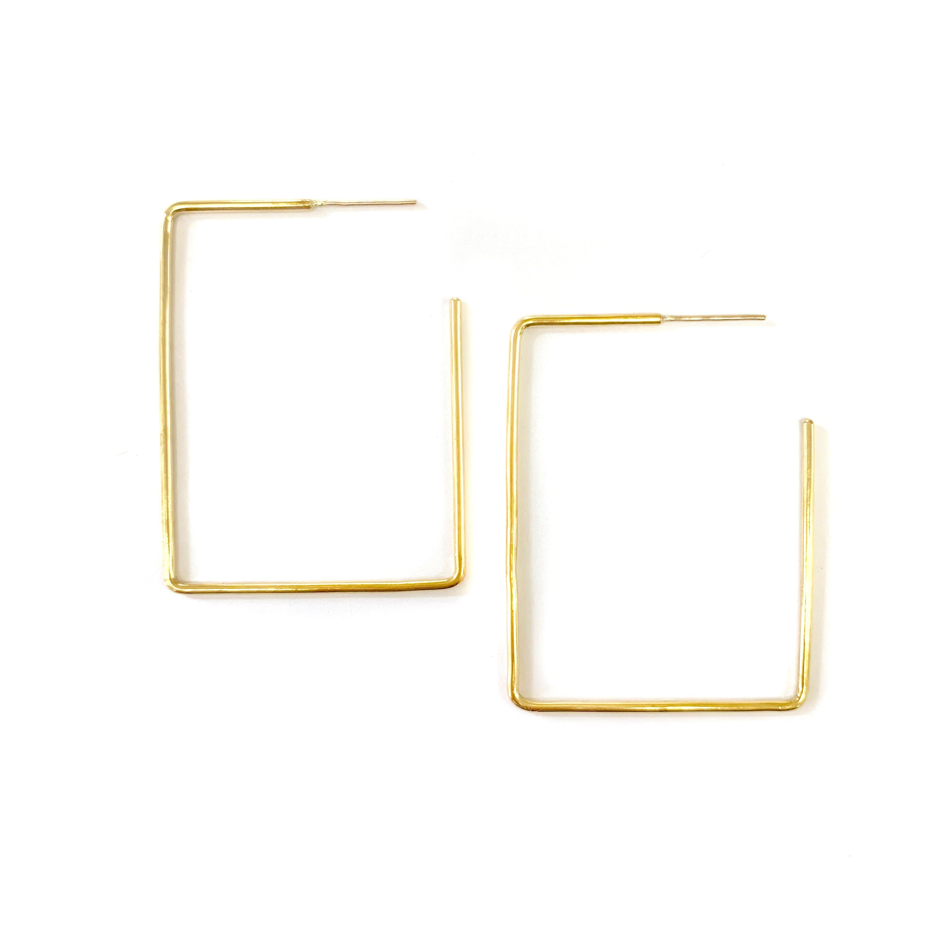Rectangle Earring | Large, Earings, ADORN512, adorn512