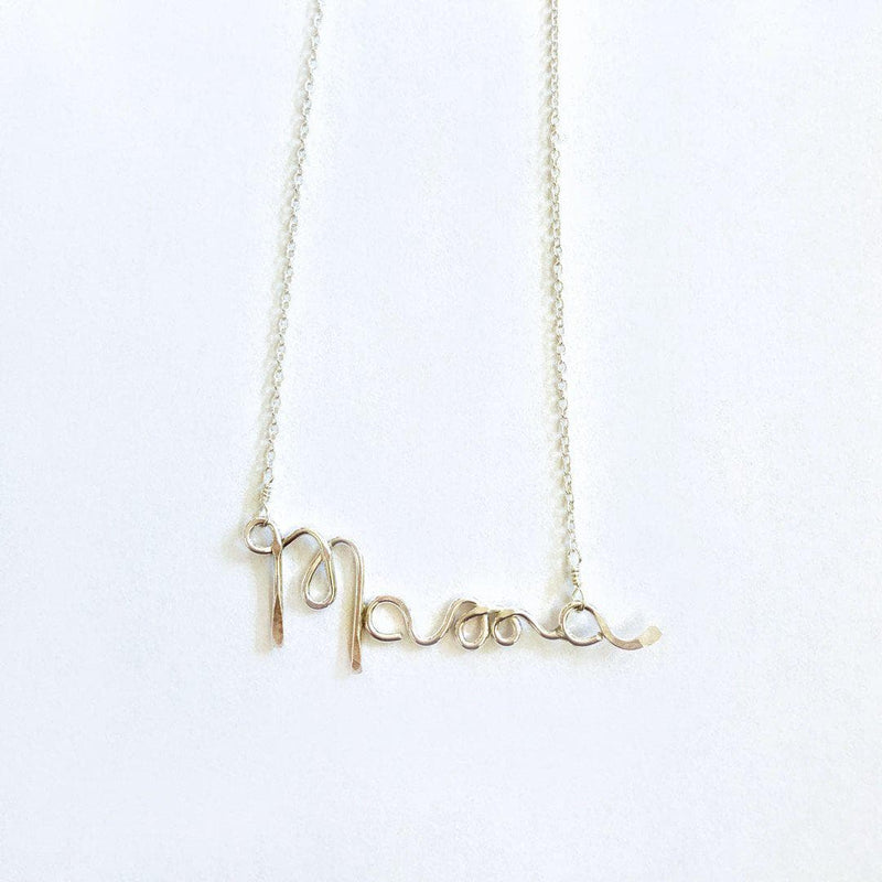 Mama Scripted Necklace