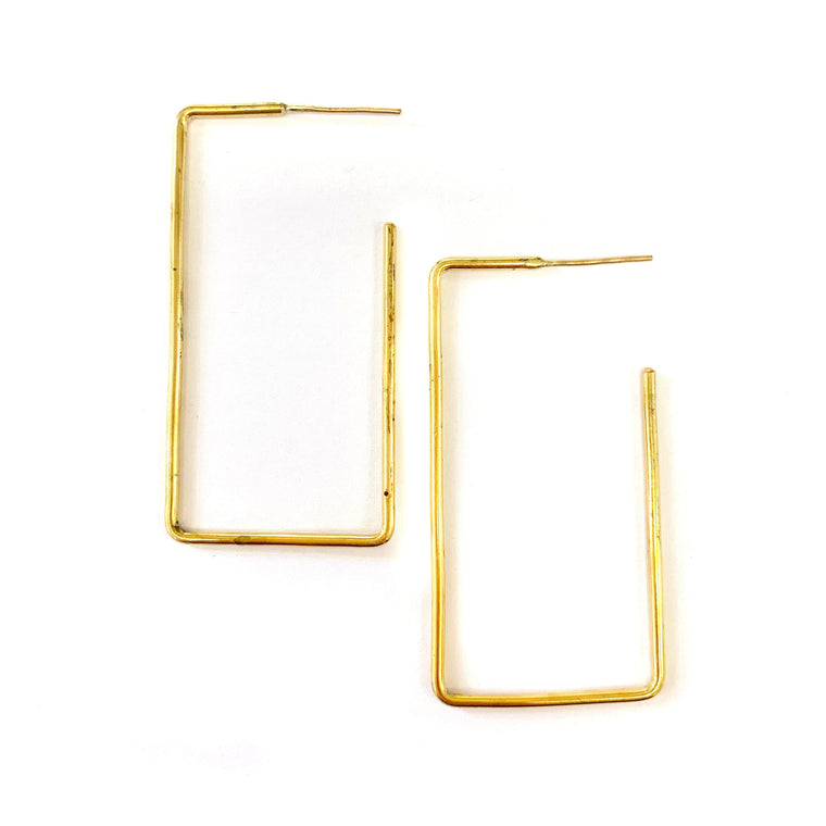 Rectangle Earring | Medium