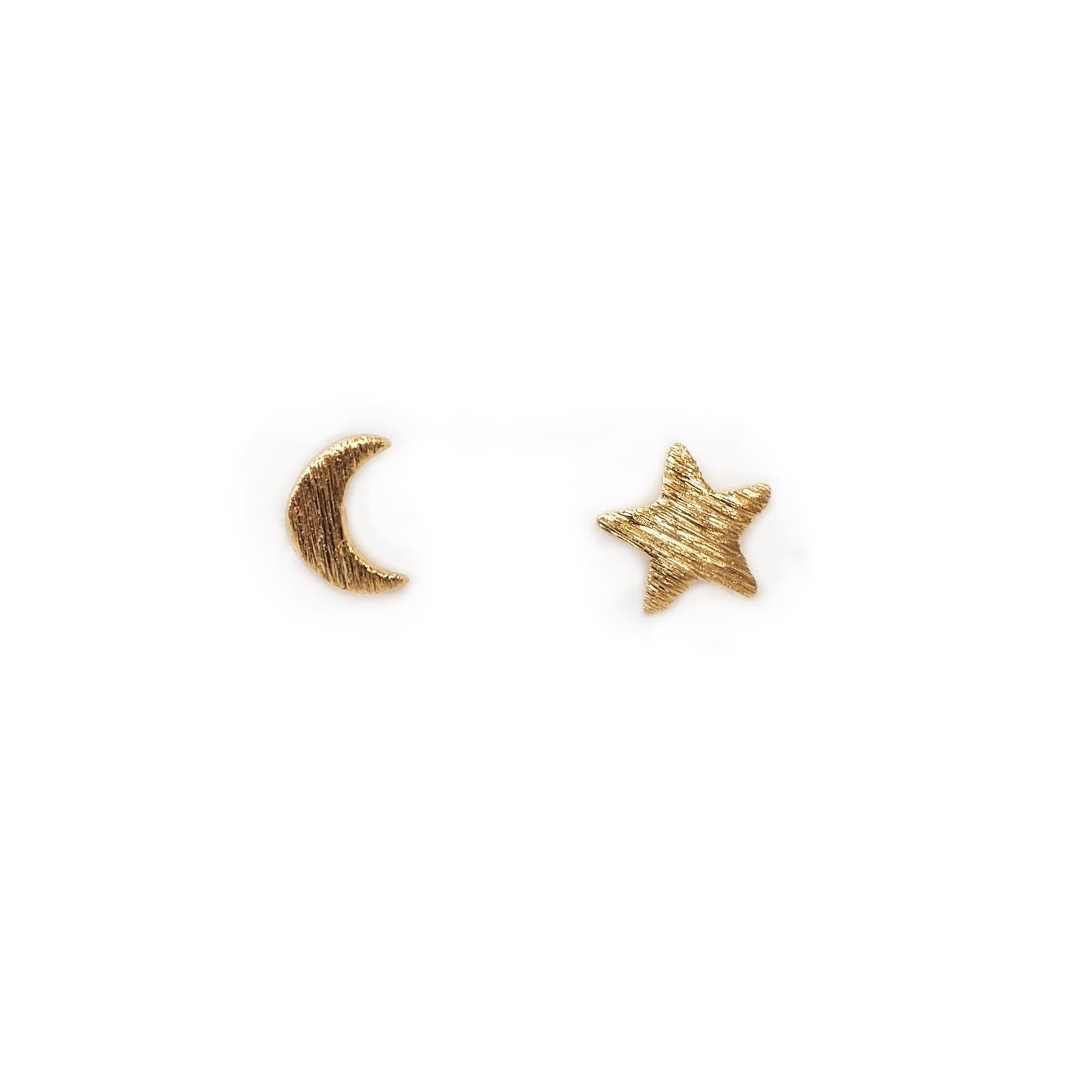 Moon & Star Stud Earrings, Earrings, adorn512, adorn512