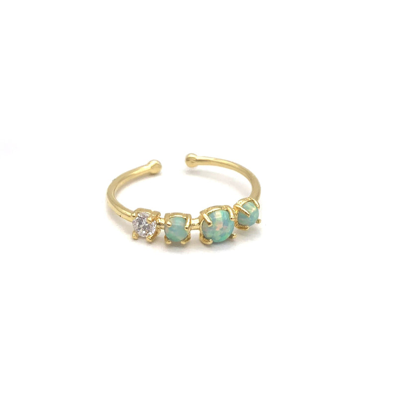 Triple Opal Cz Ring, Rings, Adorn512, adorn512