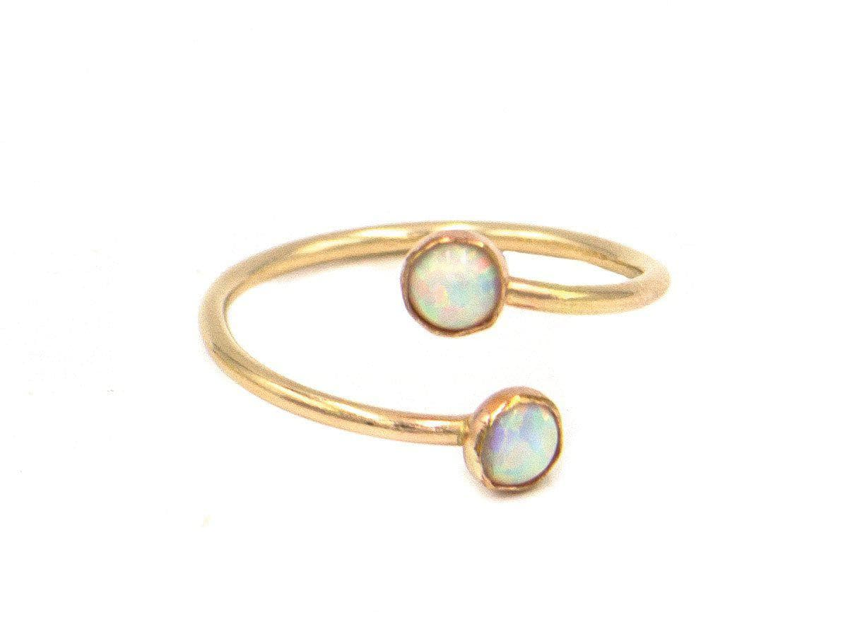 Up Down Opal Ring