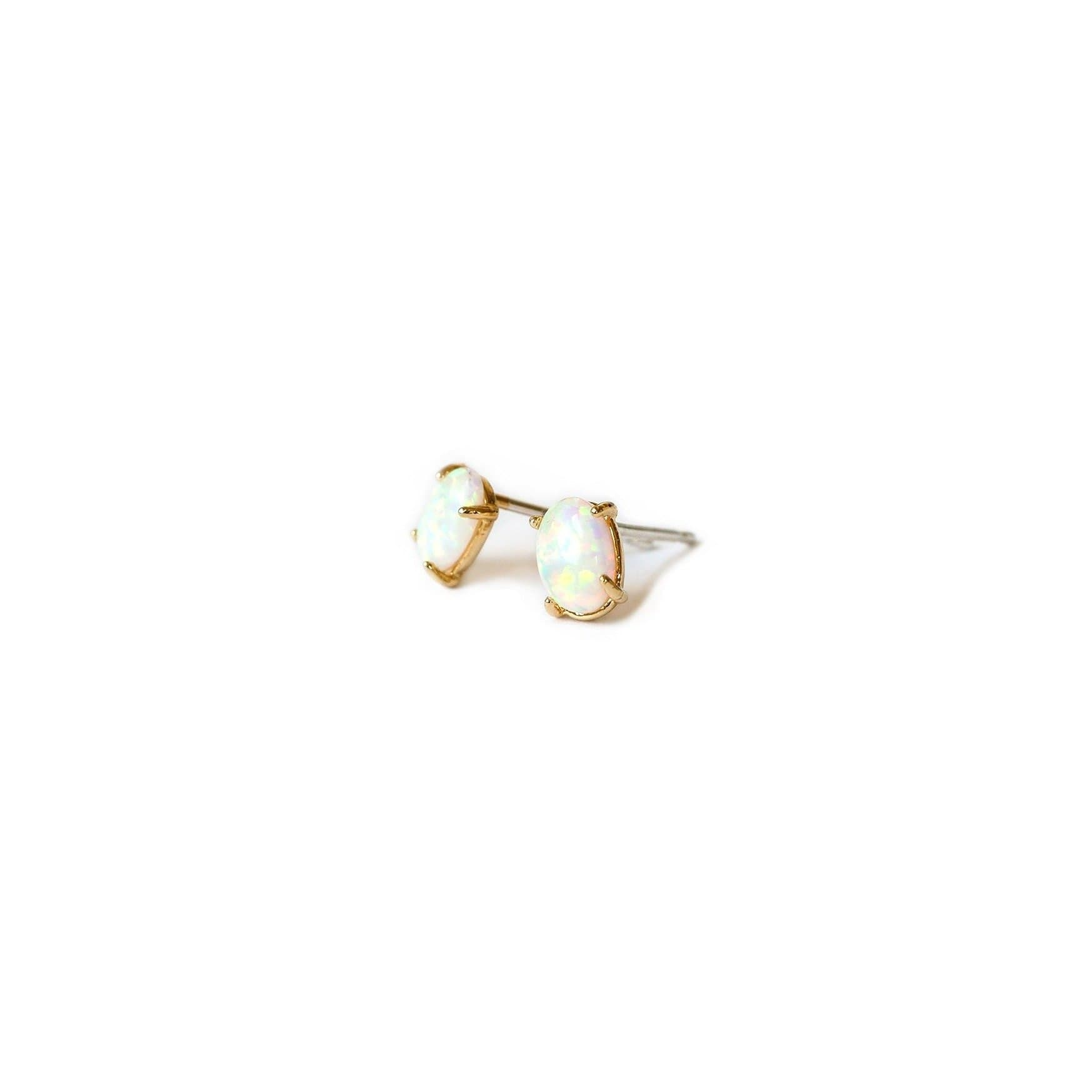 Opal Stud Earrings, Earrings, adorn512, adorn512