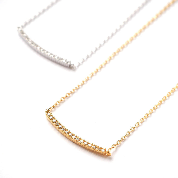 Pave Bar Necklace, Necklace, adorn512, adorn512