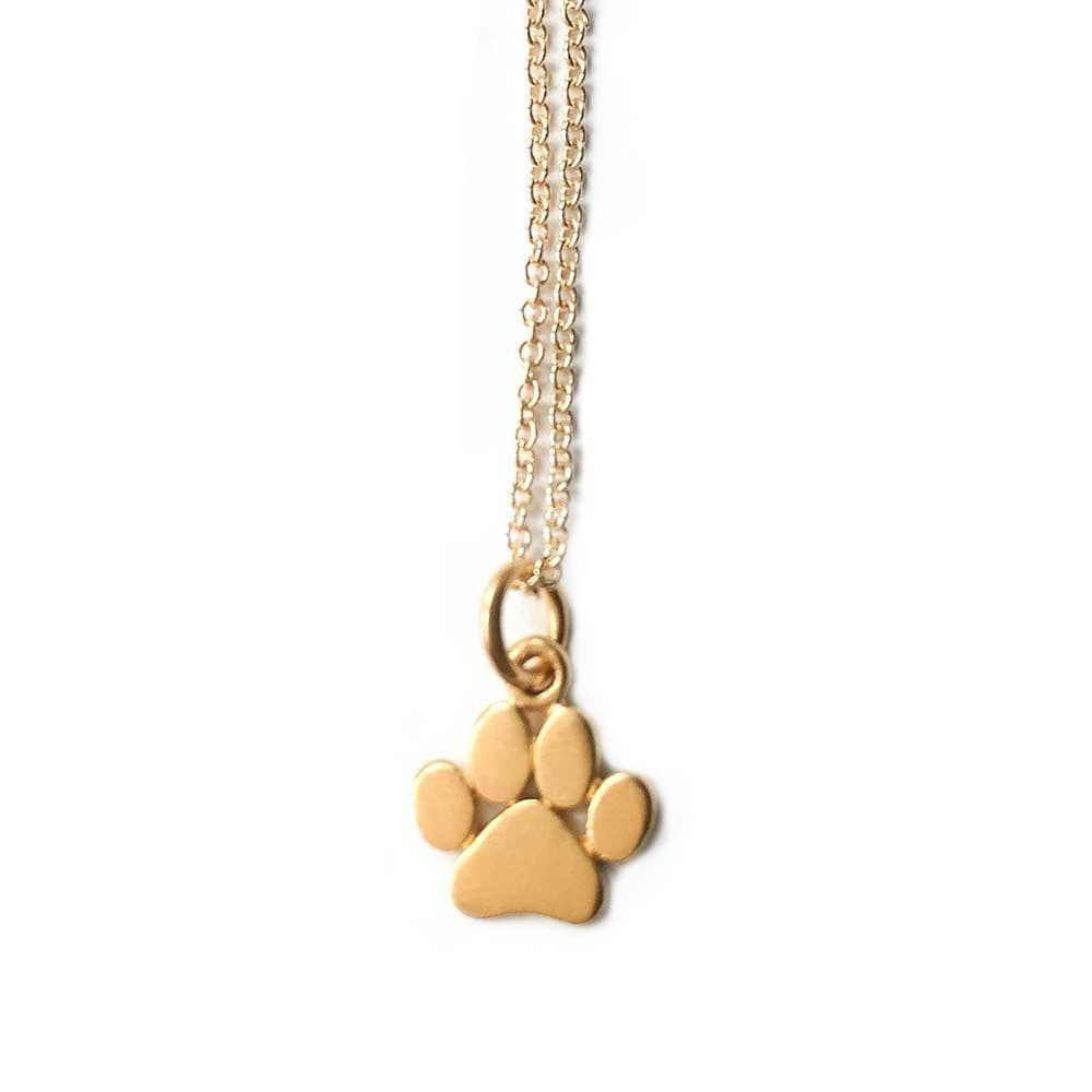 print animal bear dog in pet from item palm love puppy lot necklace paw heart cat necklaces gold mark choker silver