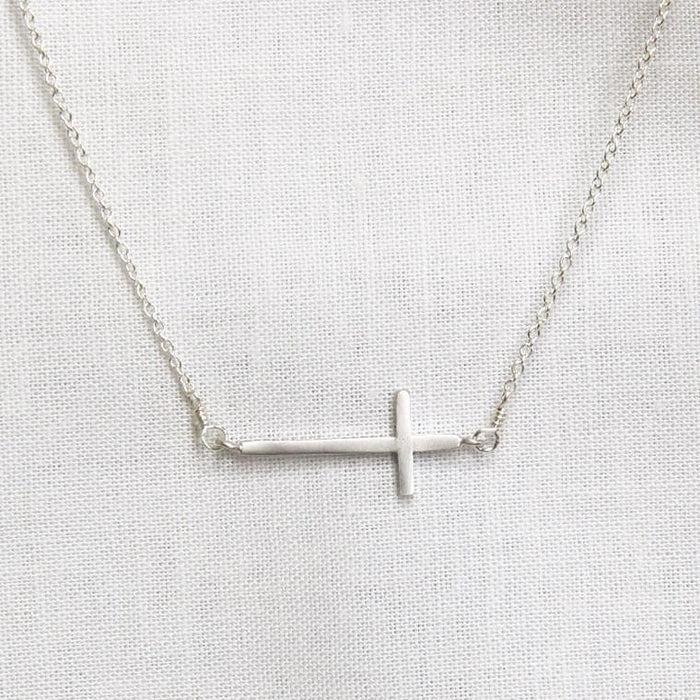Side Cross Necklace - adorn512