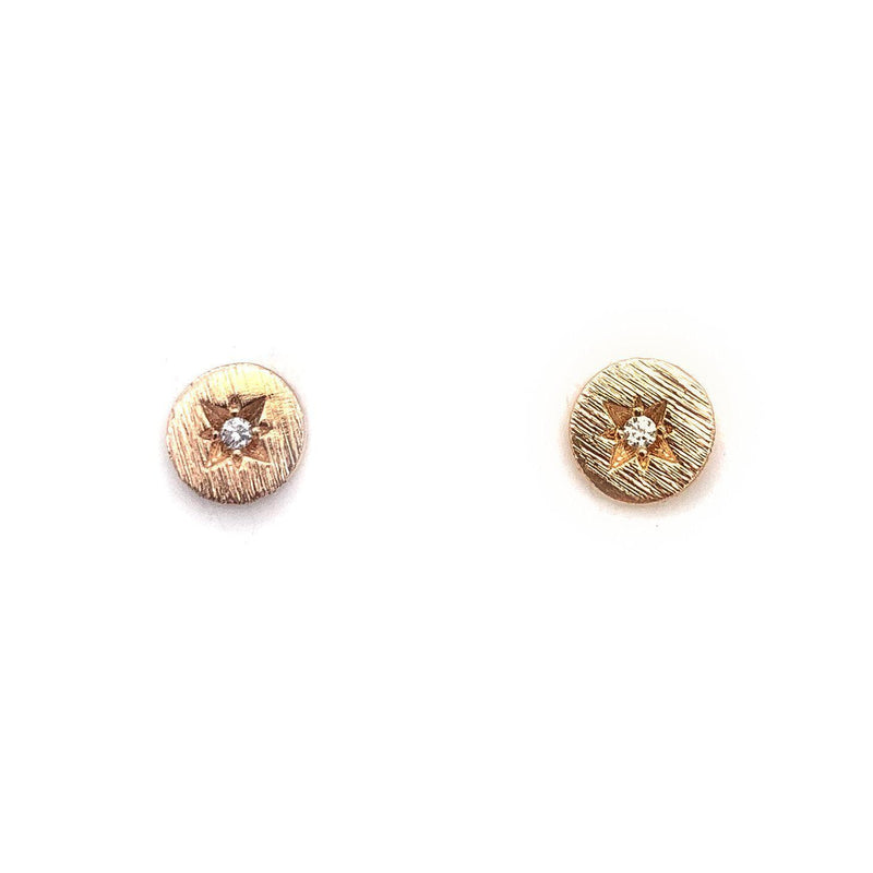 Single CZ Burst Stud, Earrings, adorn512, adorn512