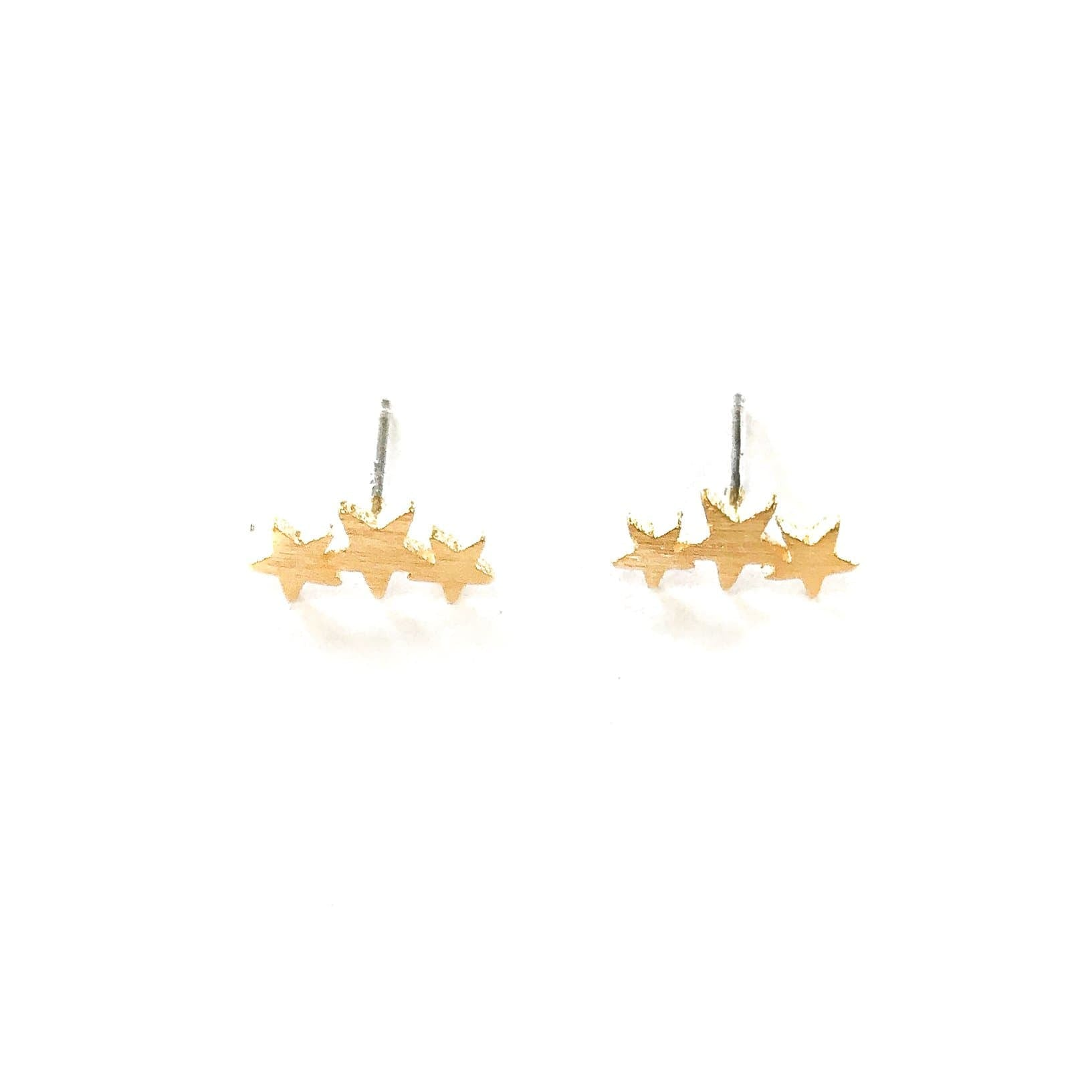 Triple Star Stud, Earrings, adorn512, adorn512