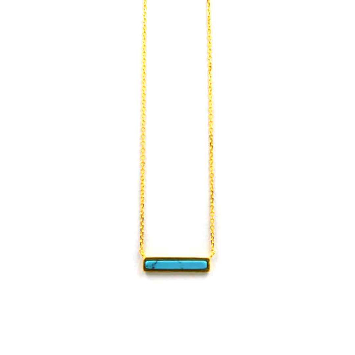 Turquoise Bar Necklace, Necklaces, adorn512, adorn512