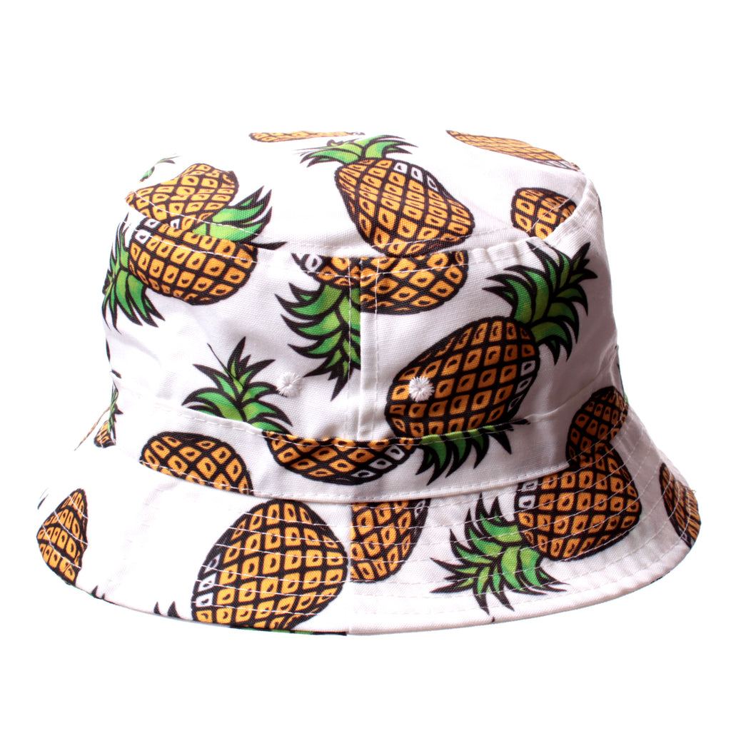 White Pineapple Bucket Hat – The Fly Pelican 79e9d72966f