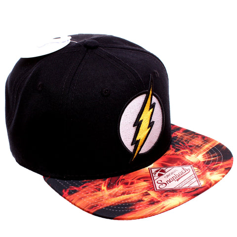 0d9a79f7 DC Comics The Flash Logo with Sublimated Bill Snapback Baseball Hat