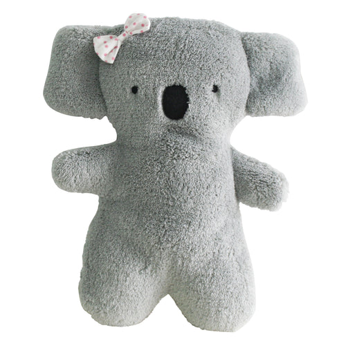 Soft grey koala with bow