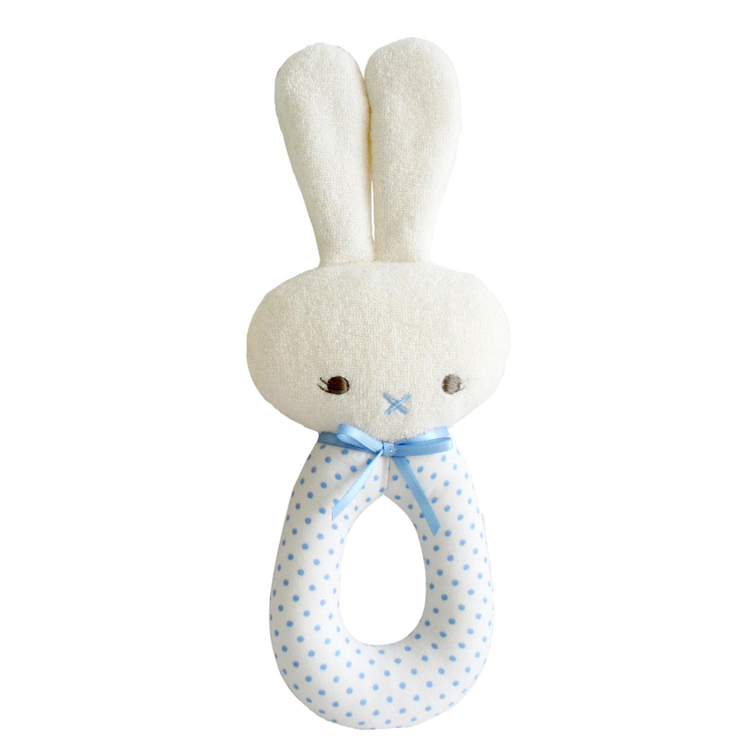 Spotty Bunny Grab Rattle - 2 colour variations