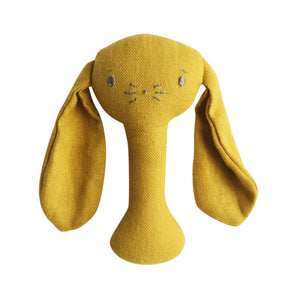Bobby Bunny Stick Rattles - 4 colour variations