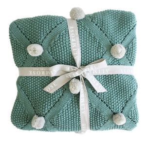 Organic Cotton Pom Pom Blanket (2 Colour Variations)