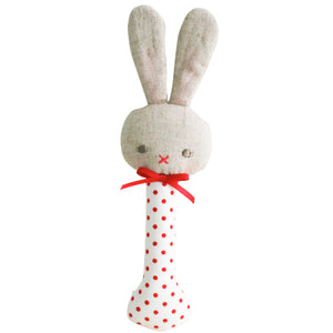 Bunny Stick Rattle - 4 colour variations