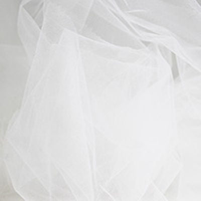 white nylon tulle