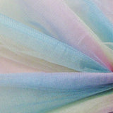 yellow pink aqua  nylon shiny tulle