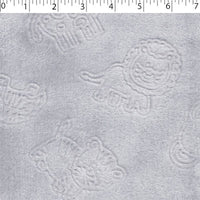 Grey Jungle Animals Chenille Embossed