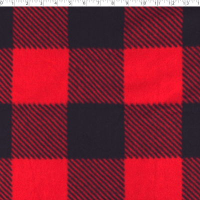 0262360 Mountain Fleece Basics - LARGE BUFFALO CHECK