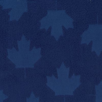 royal polyester embossed maple leaf fleece
