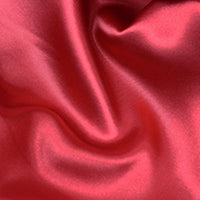 red polyester satin