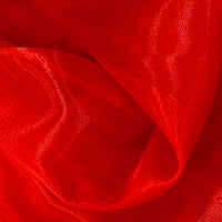 red polyester organza