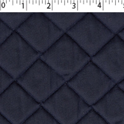 navy quilted broadcloth