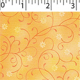 yellow flowers print cotton wide width blender