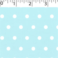 mist ground cotton fabric with white big dot prints