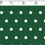 forest ground cotton fabric with white big dot prints