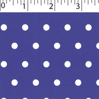 purple ground cotton fabric with white big dot prints