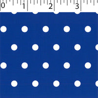 royal ground cotton fabric with white big dot prints
