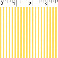 yellow ground cotton fabric with white little stripe prints