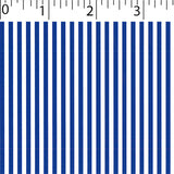 blue ground cotton fabric with white little stripe prints