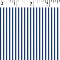 navy ground cotton fabric with white little stripe prints