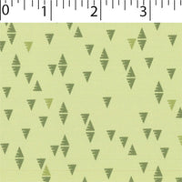 meadow ground cotton fabric with green triangle prints