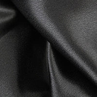 black polyester satin