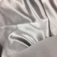 grey polyester satin