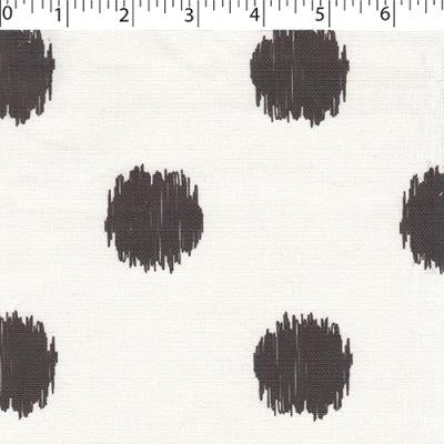 white cotton polyester fabric with black dots prints